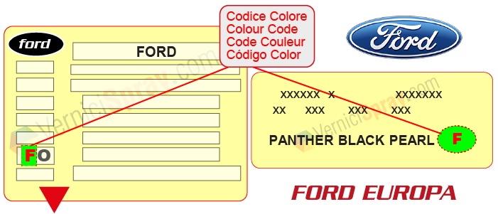 ford colour code jh1