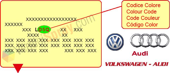 trouver code couleur voiture carte grise Tous les Codes Peinture VOLKSWAGEN / AUDI